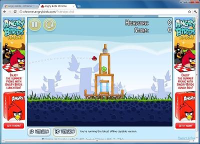 図7 Webアプリ(Angry Birds)
