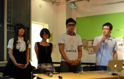 チームDNP。左から森川裕美さん、山本淑恵さん、吉川浩太さん、吉川浩介さん