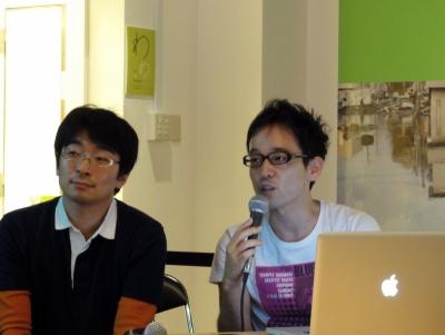 シグマコンサルティングwith JAZとして出場した青木 賢太郎さん(左)とシグマコンサルティングの橋本圭一さん(右)