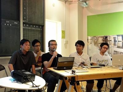 右からFandroid EAST JAPANの佐藤さん、カヤックの野崎さん、JAZの富田さん、シグマコンサルティングの橋本さん、ビービーシステムの亀淵さん
