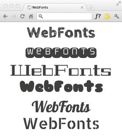 WebFonts の使用例