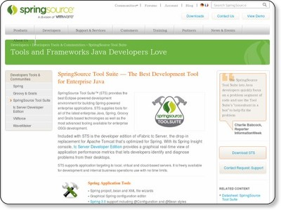 SpringSource Tool Suite - The Best Development Tool for Enterprise Java | SpringSource