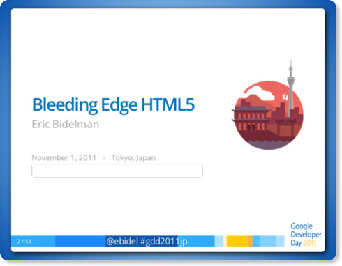 Bleeding Edge HTML5