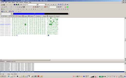 図11 loc_F1の周辺のメモリダンプ(クリックすると拡大します)