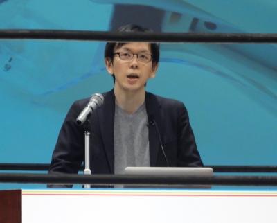 smoonのプレゼンテーションを行った渡邊恵太氏