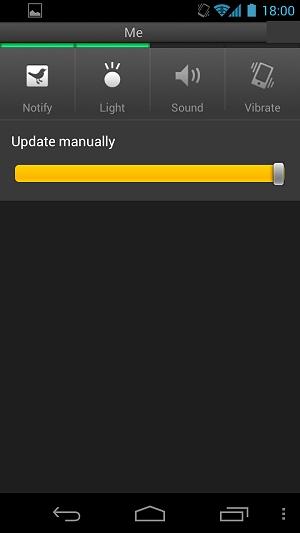 4.0に公式対応していないTweetDeckは右下にMENUボタンが小さく表示される