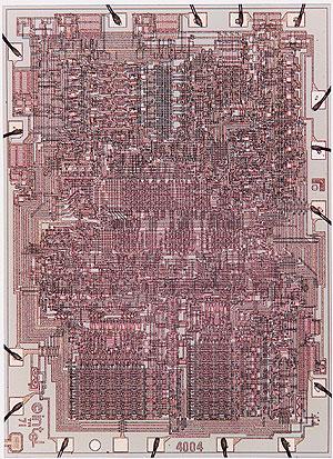 4004の回路写真