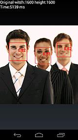 図2 すべてのサンプル画像の顔認識結果