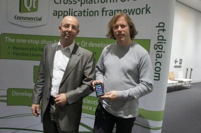 ノキア Qtエコシステムディレクター ダニエル・キールベルグ氏およびQtプロジェクトチームメンテナーであるラーズ・クノール氏