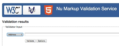 Nu Markup Validation Service