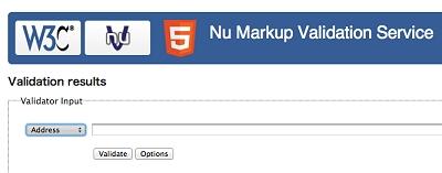 Nu Markup Validation Service