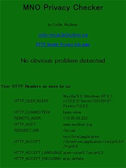 画面4 Mulliner氏によるチェックサイト