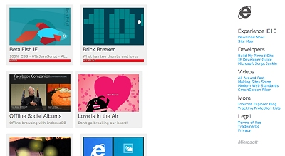 Internet Explorer 10 Test Drive