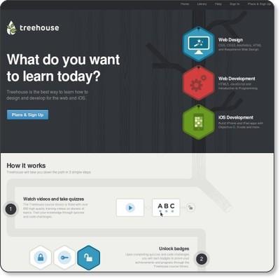 Learn Web Design, Web Development, and iOS Development - Treehouse