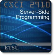 Server-Side Programming - Spring 2010 - Download free content from East Tennessee State University on iTunes