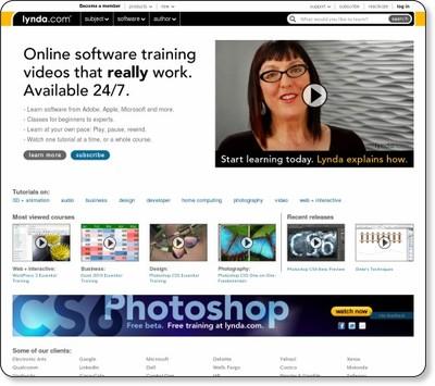 Software training online-tutorials for Adobe, Microsoft, Apple & more