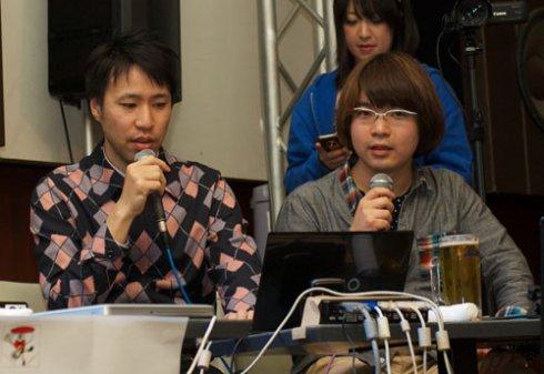 人間の花岡さん(左)と山根さん(右)