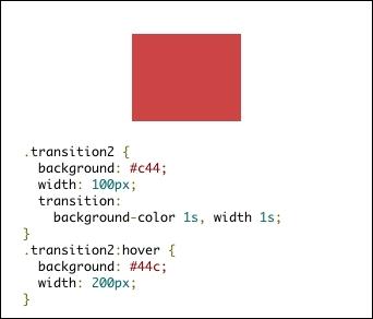 複数属性のトランジション