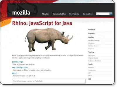 Rhino - JavaScript for Java via kwout