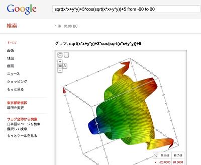 グーグルの検索結果が3Dに