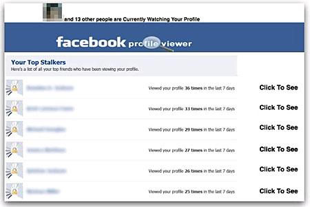 画面1 「訪問者を知らせる」という機能をうたう「Facebook Profile Viewer」だが、単なるスパムアプリのようだ(NakedSecurityブログより)