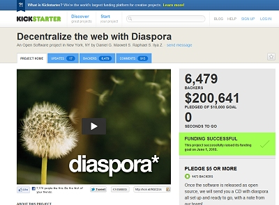 Decentralize the web with Diaspora by Daniel G. Maxwell S. Raphael S. Ilya Z. - Kickstarter