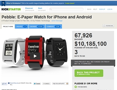Pebble: E-Paper Watch for iPhone and Android by Pebble Technology - Kickstarter
