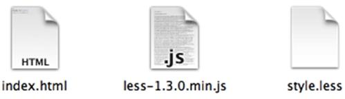 「style.less」という CSSファイルを作成