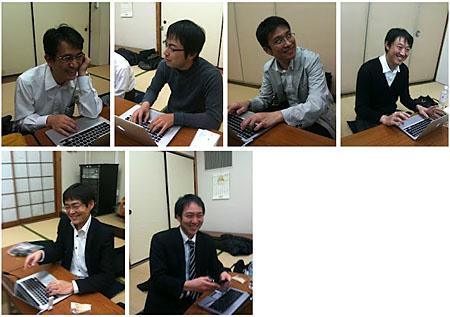 スタッフによるミーティング風景。みんな笑顔です