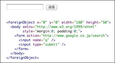 SVG内でフォーム送信