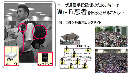 図3 無線LANアクセスポイントを背負ったWi-Fi忍者
