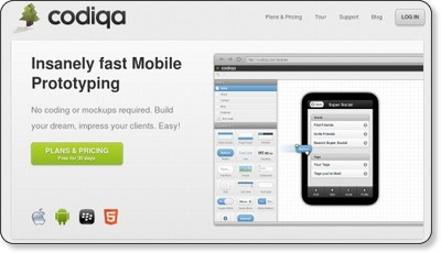 The Fastest Mobile Prototyping - Codiqa