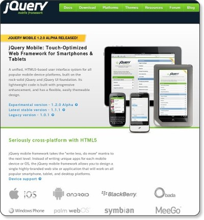 jQuery Mobile | jQuery Mobile