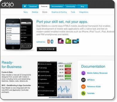 Dojo Mobile - The Dojo Toolkit