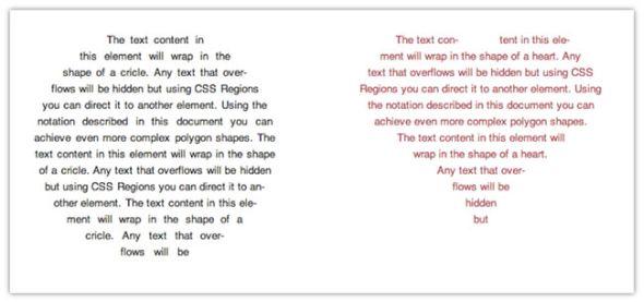 ハートやサークルなど、形状に合わせてテキストを入れることもできる