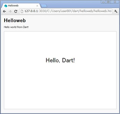 図6 hellowebアプリケーション実行結果