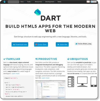 Dart: Structured web apps via kwout