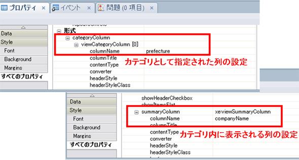 図5 Data Viewコントロールのプロパティ設定