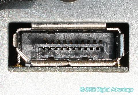 機器に搭載されているDisplayPortコネクタ