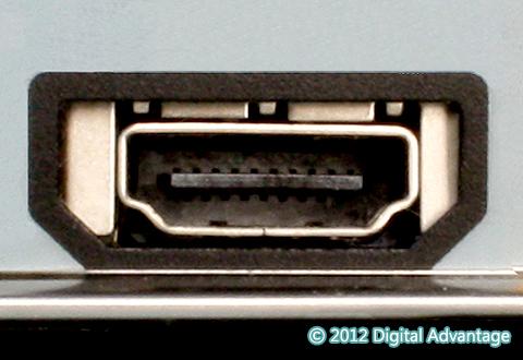機器に搭載されているHDMI Type Aコネクタ