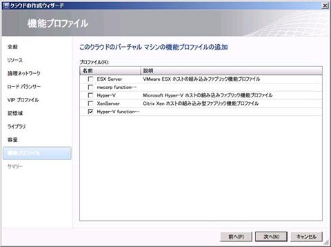 図6 機能プロファイル