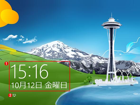 Windows 8のロック画面