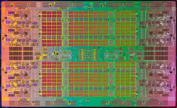 Itanium 9500シリーズのダイ写真