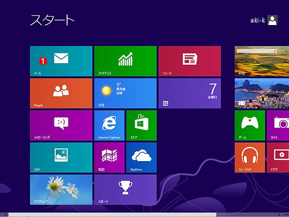 Windows 8の[スタート]画面