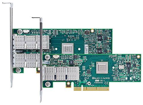 写真2 メラノックスのInfiniband HCA(Host Channel Adapter)/NIC兼用アダプタ