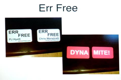 「Err Free」のころの2人の名刺