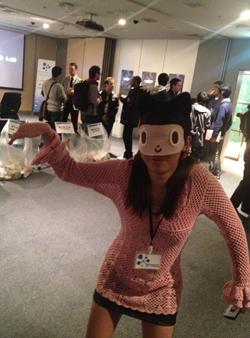 (おまけ)手作りのお面を作ってきた参加者がいたので、筆者も借りてGitHubのキャラクターOctocatになりきってみた