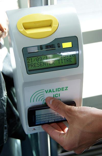 海外におけるNFC対応の携帯端末を利用したサービスの例