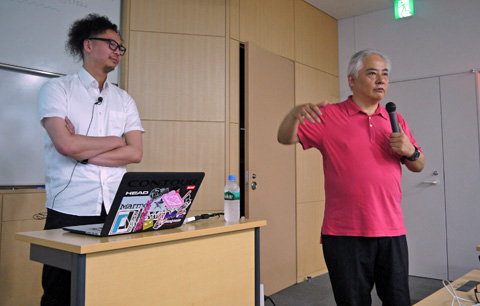谷田光晴氏(左)、古川享教授(右)